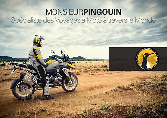 Catalogue Voyages à Moto Monsieur Pingouin