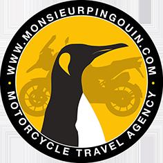 Logo Monsieur Pingouin Voyages à moto