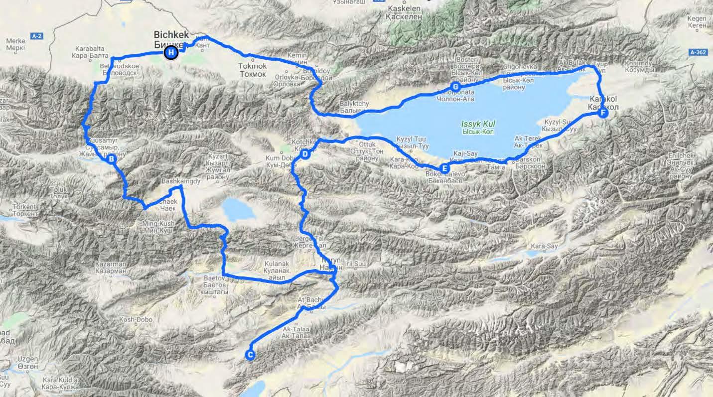 Voyage moto Kirghizstan itineraire